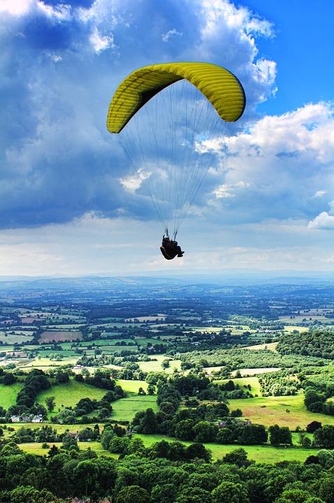 paragliding, parachute, extreme