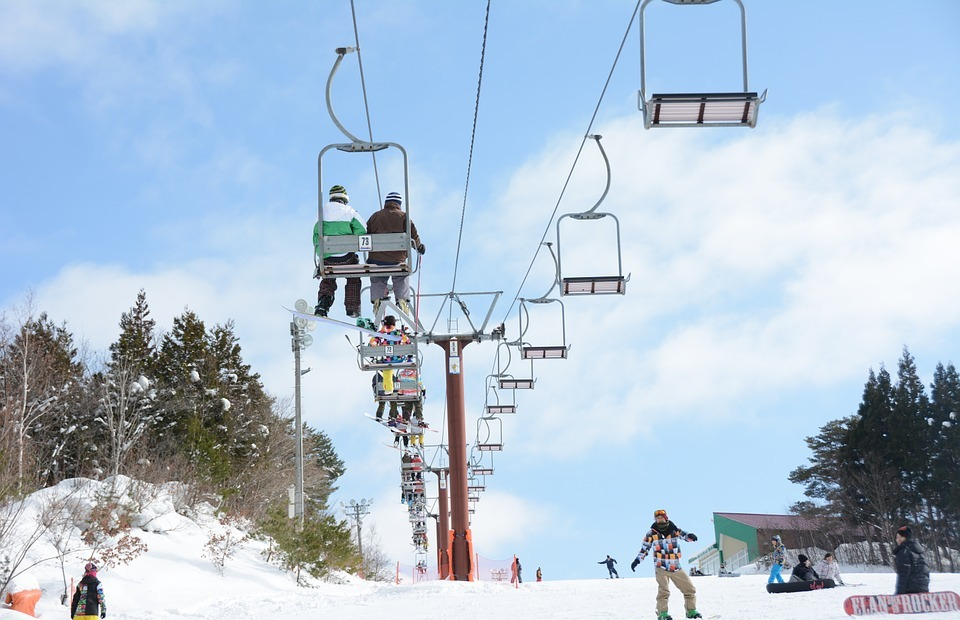 snow, snowboarding, elevator