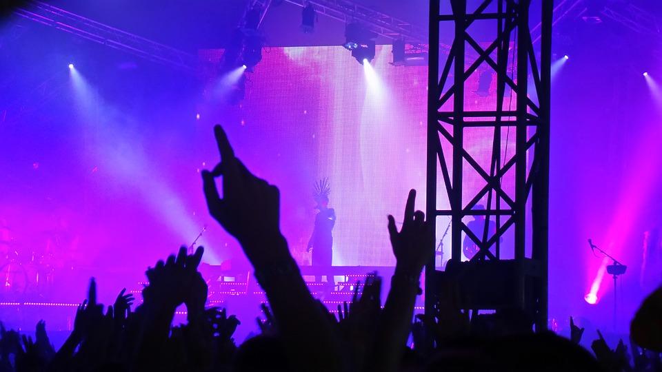 concert, party, friends