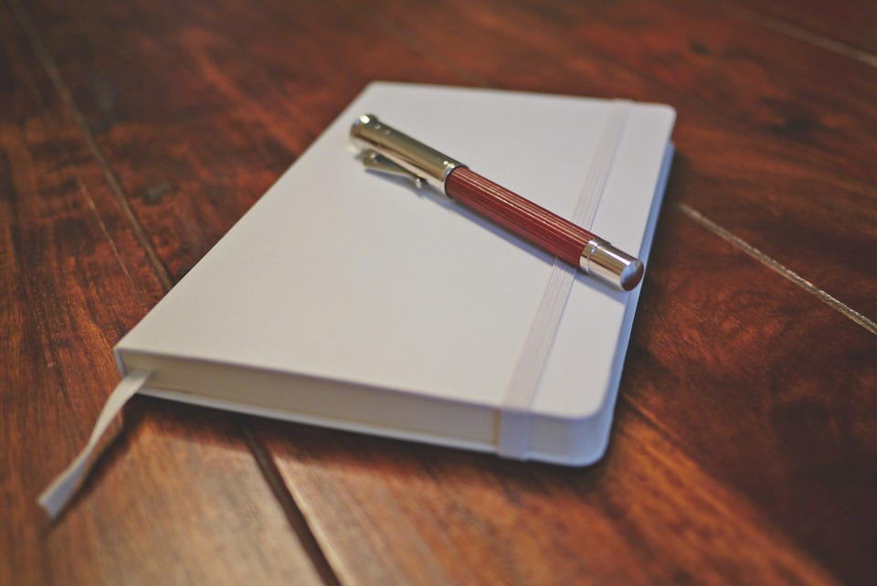 writing pad, fountain pen, graf von faber castell