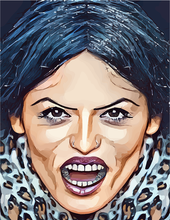 angry, woman, crazy
