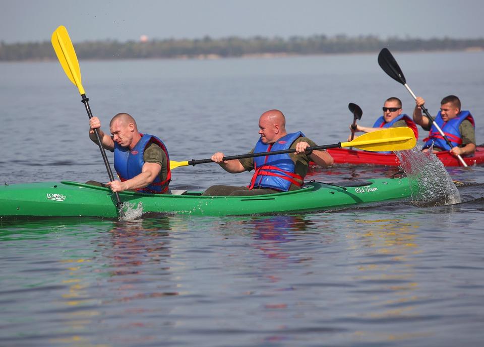 kayaking, water, sport