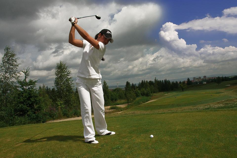 golf, golfer, ball