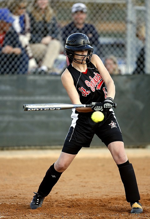 softball, batter, female