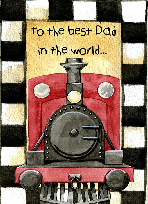 greeting card, modern, fathers day