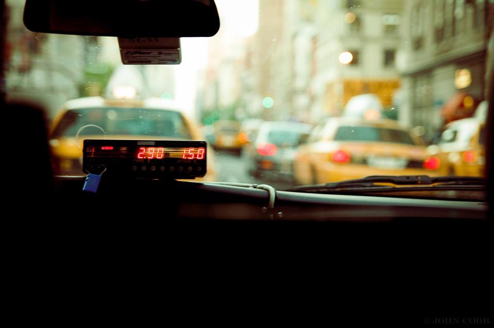city, taxi, public