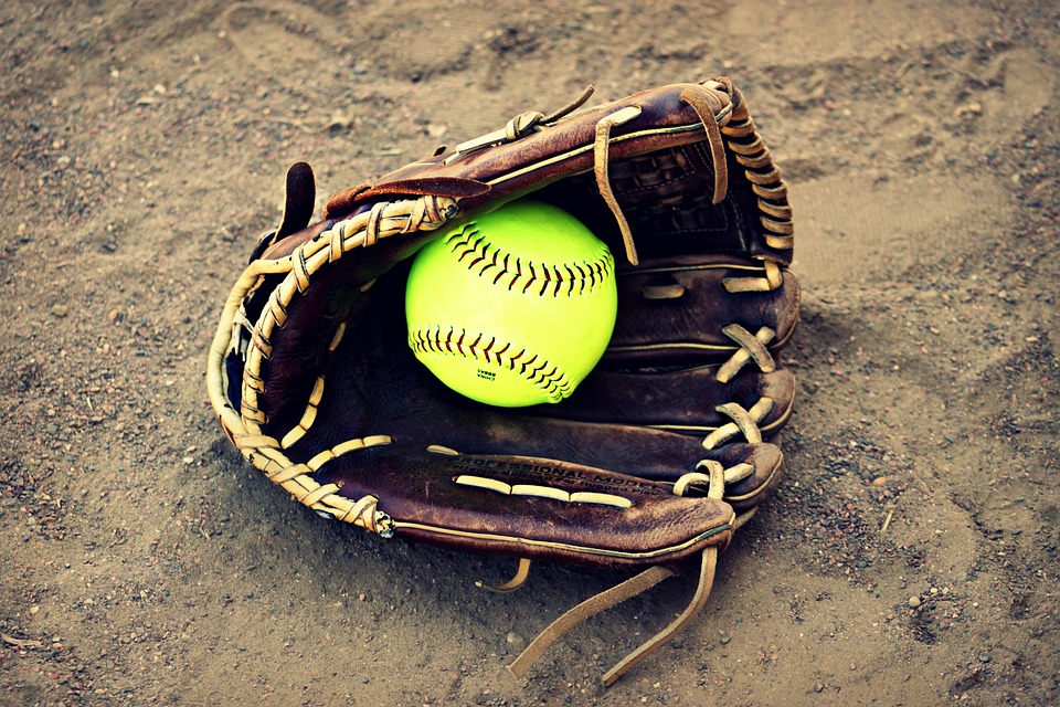 softball, outside, ball
