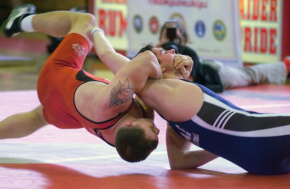 men, wrestling, sports