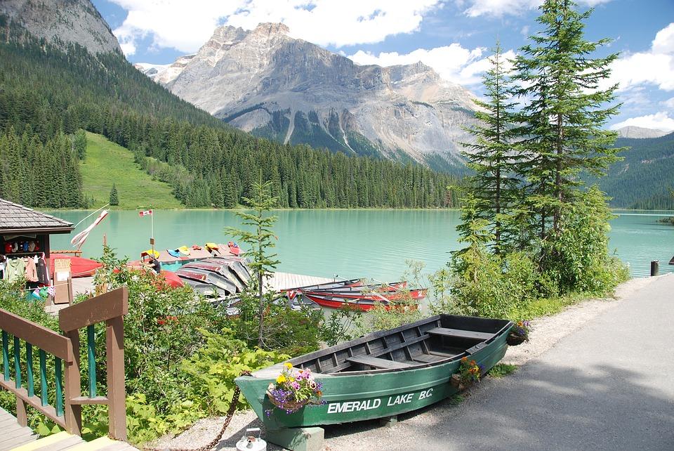 canada, emerald lake, water