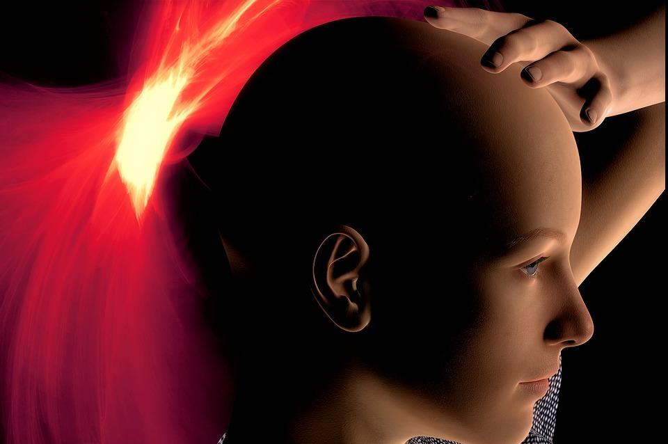 headache, woman, psychotherapy