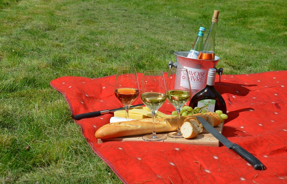 picnic, savoir vivre, wine