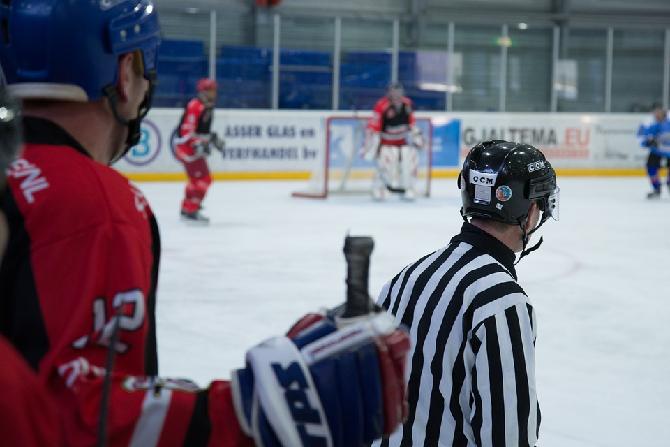ice, hockey, referee