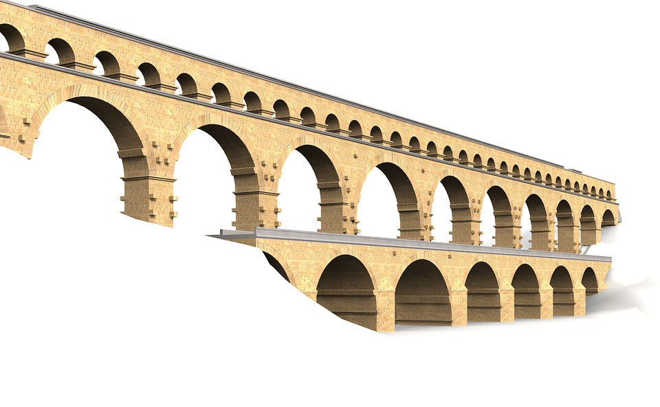 pont du gard, france, building