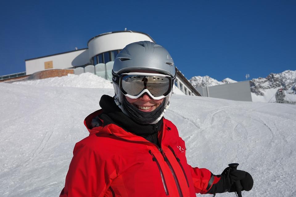 skier, skiing, ski run
