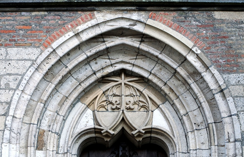 architecture, gothic, bow window