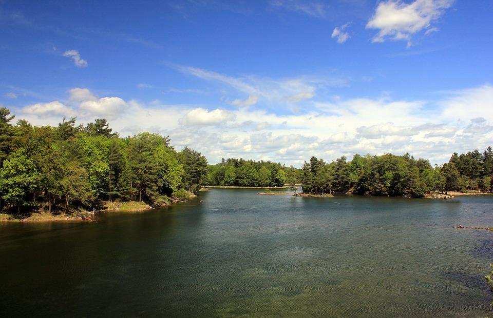 water, new york-canada border, landscape