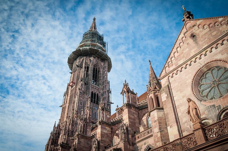 cathedral, freiburg, gothic