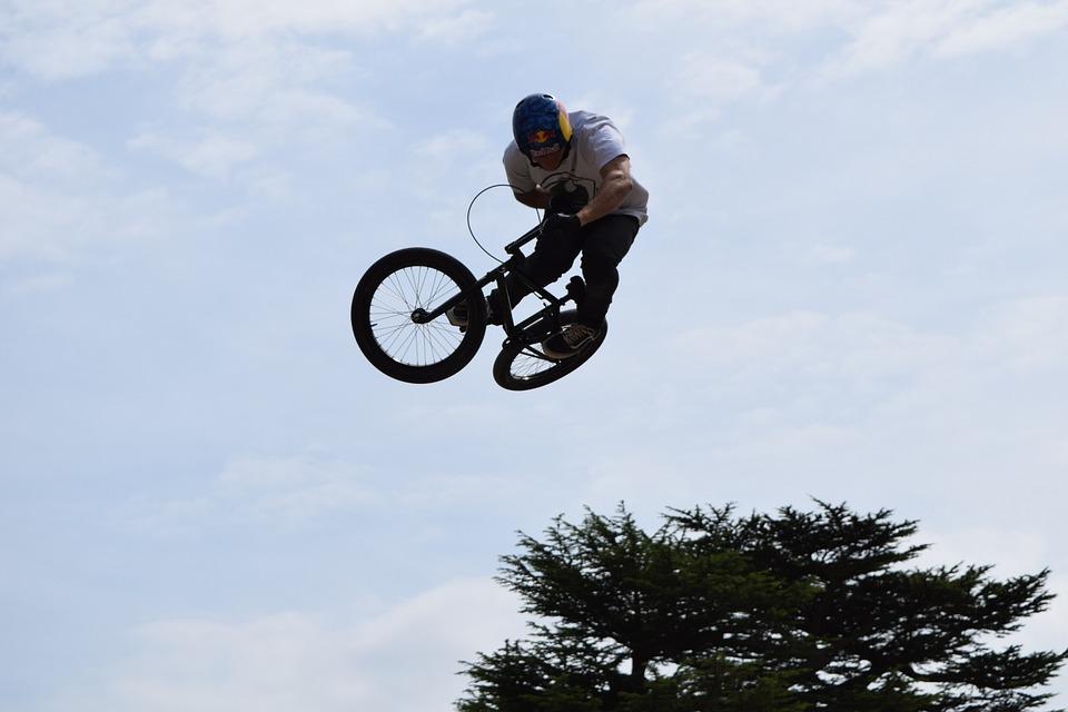 bike, stunt, air