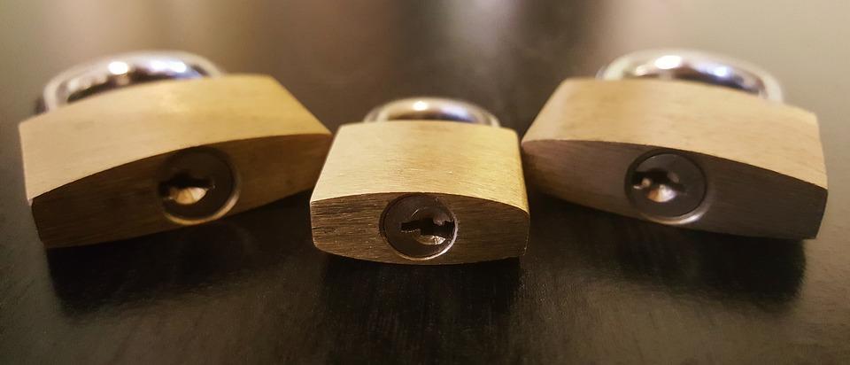 padlocks, locks, secure