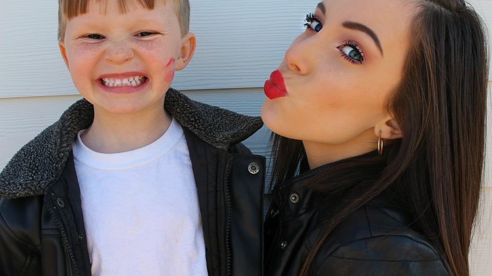 valentines, kiss, lipstick