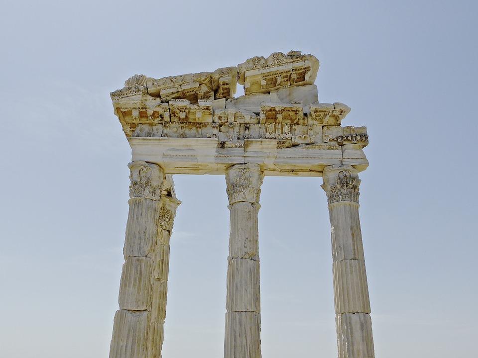 columns, bergama, ruins