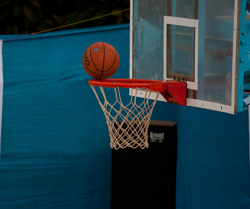 basketball, net, ball