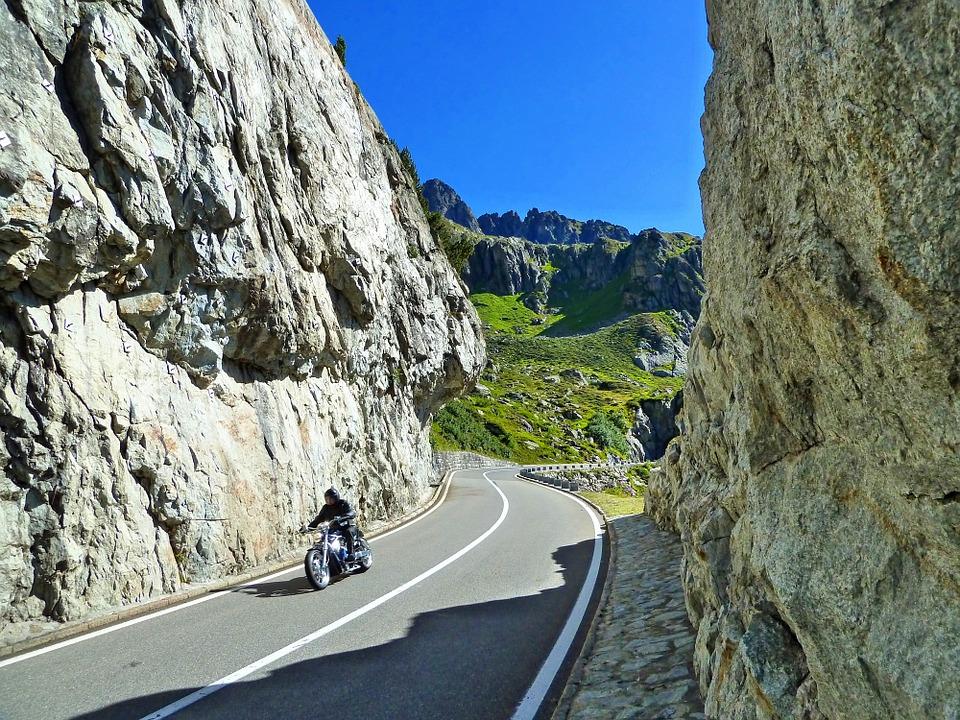 switzerland, motorcycle, summer
