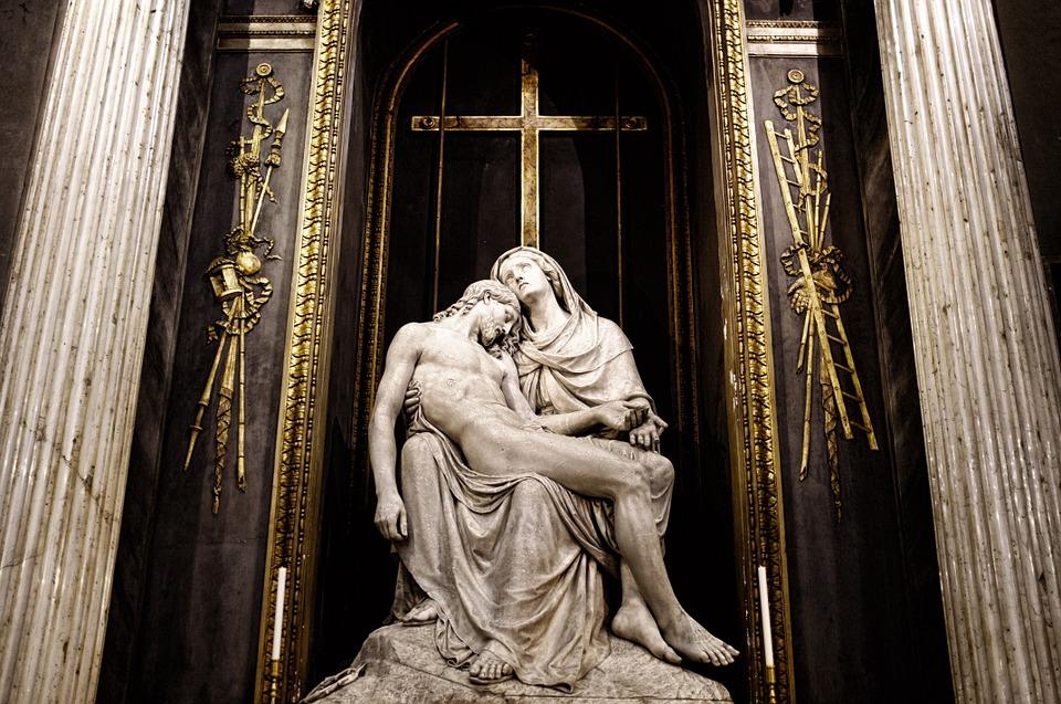 jesus, skul′prura, church