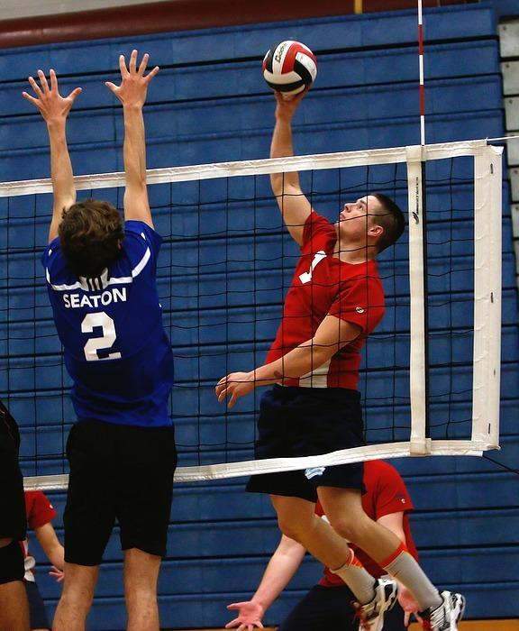 volleyball, high school, game