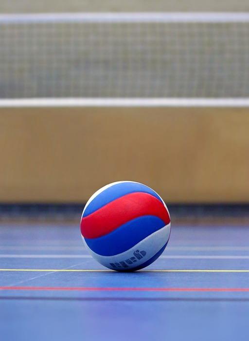 volleyball, ball, volleyball field