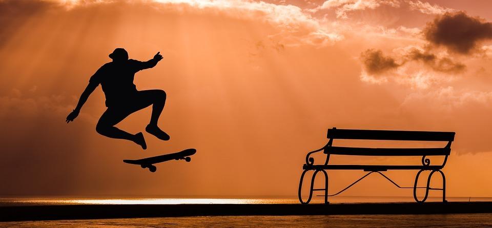 skate, board, skateboard
