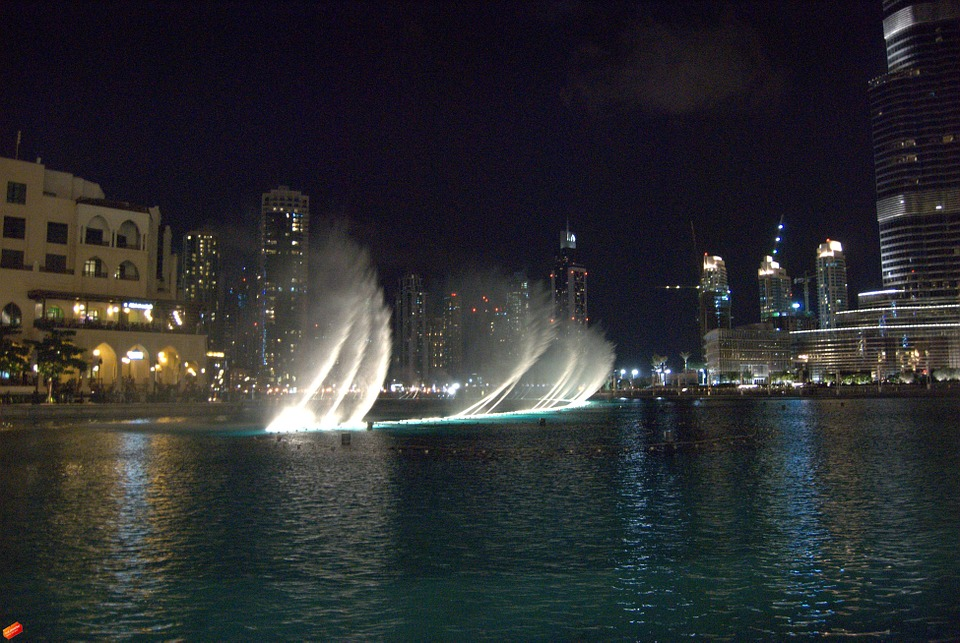 fountain, water, fountain city