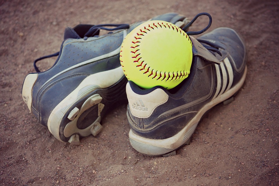 softball, cleats, sports