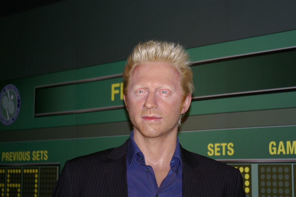boris becker, tennis player, wax figure