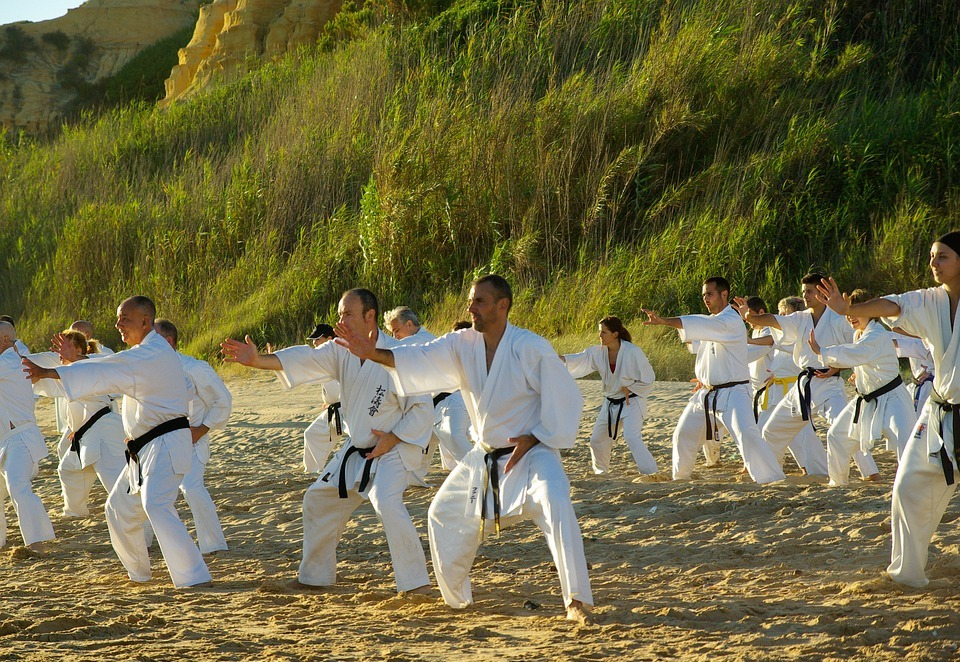 beach, sports, karate