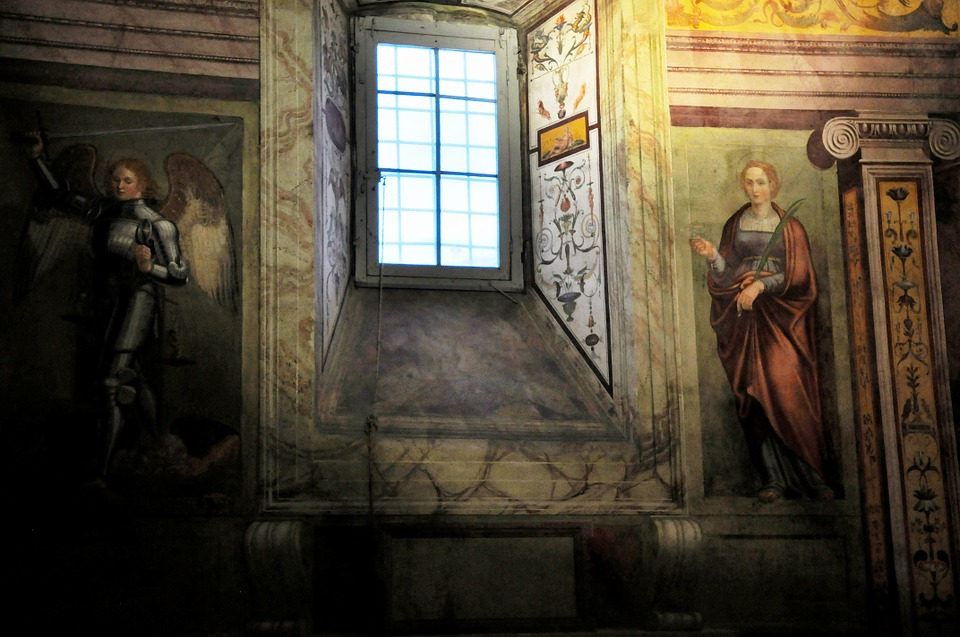 church, fresco, catholic