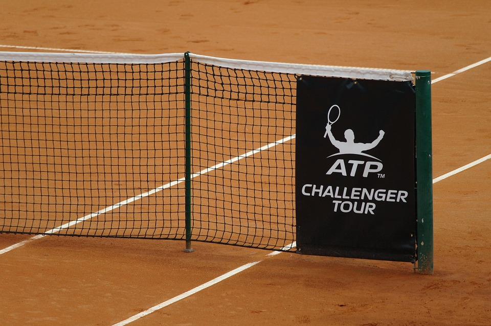 clay court, tennis court, net