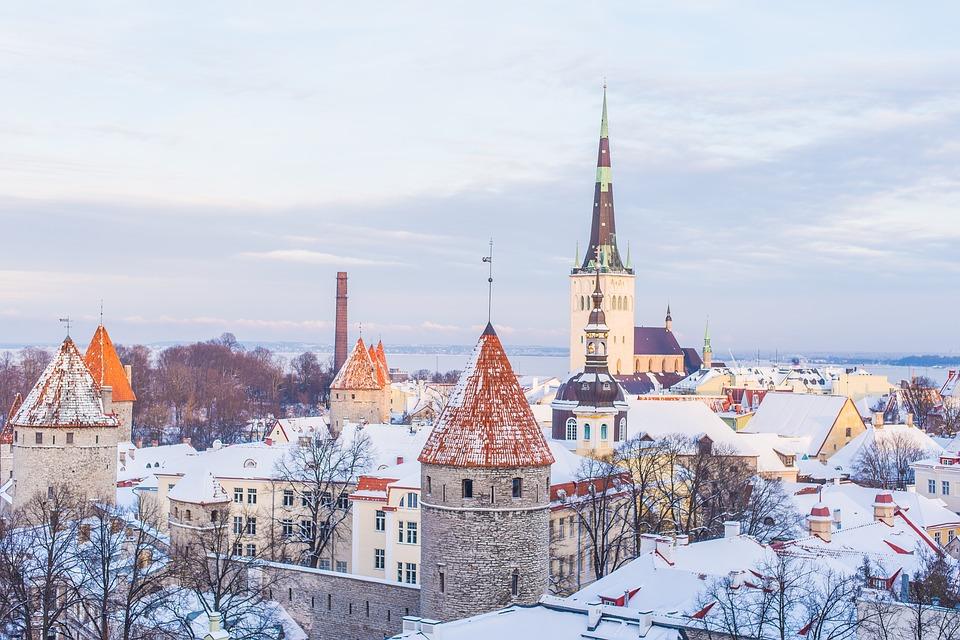cityscape, snow, winter