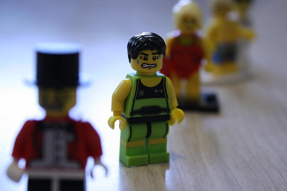 lego, figure, angry
