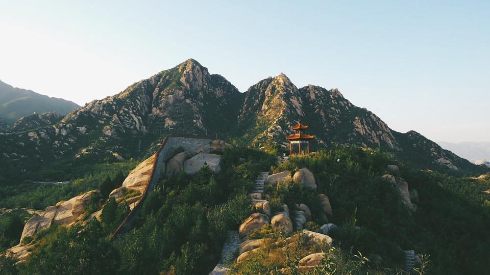temple, mountain, asia
