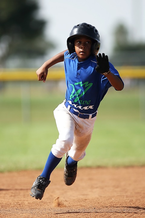 baseball, player, running
