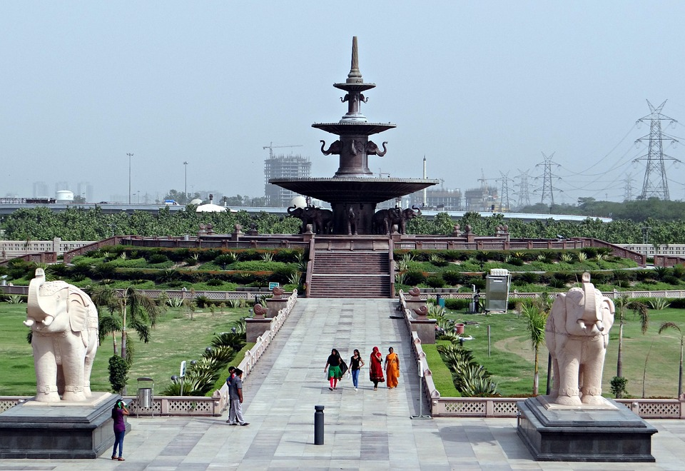 dalit prerna sthal, memorial, fountain