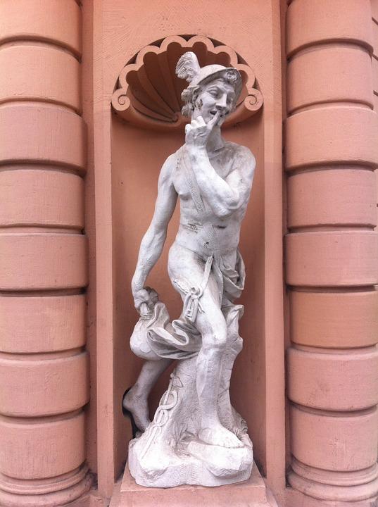 hermes, statue, leipzig