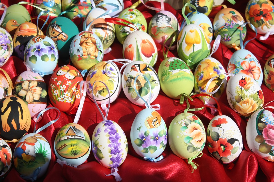 easter, easter eggs, hand-painted easter eggs