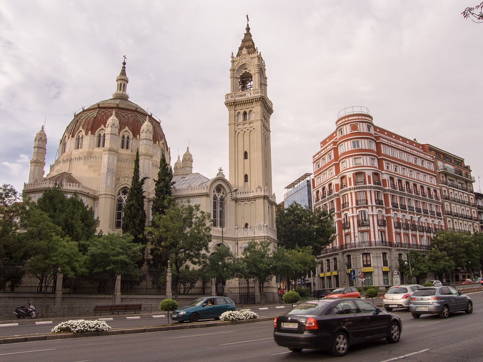 madrid, church, neo classical