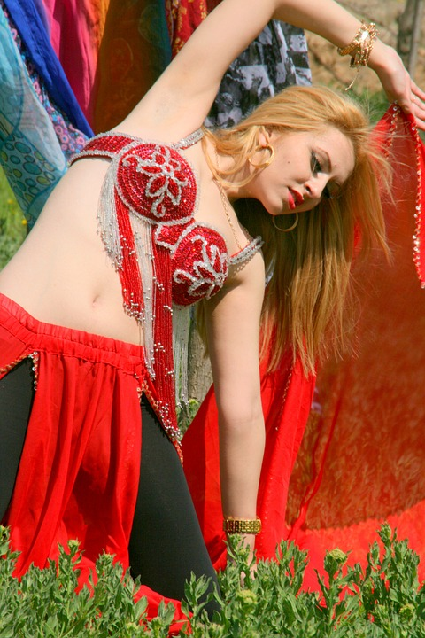 girl, dancer, belly dance
