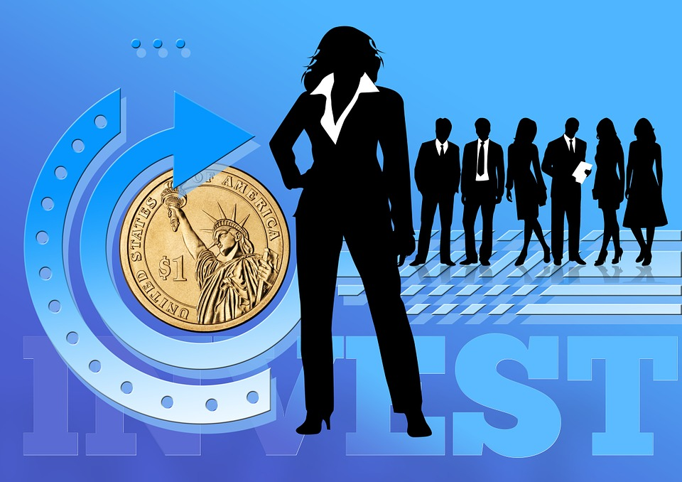 businesswoman, businessman, investement