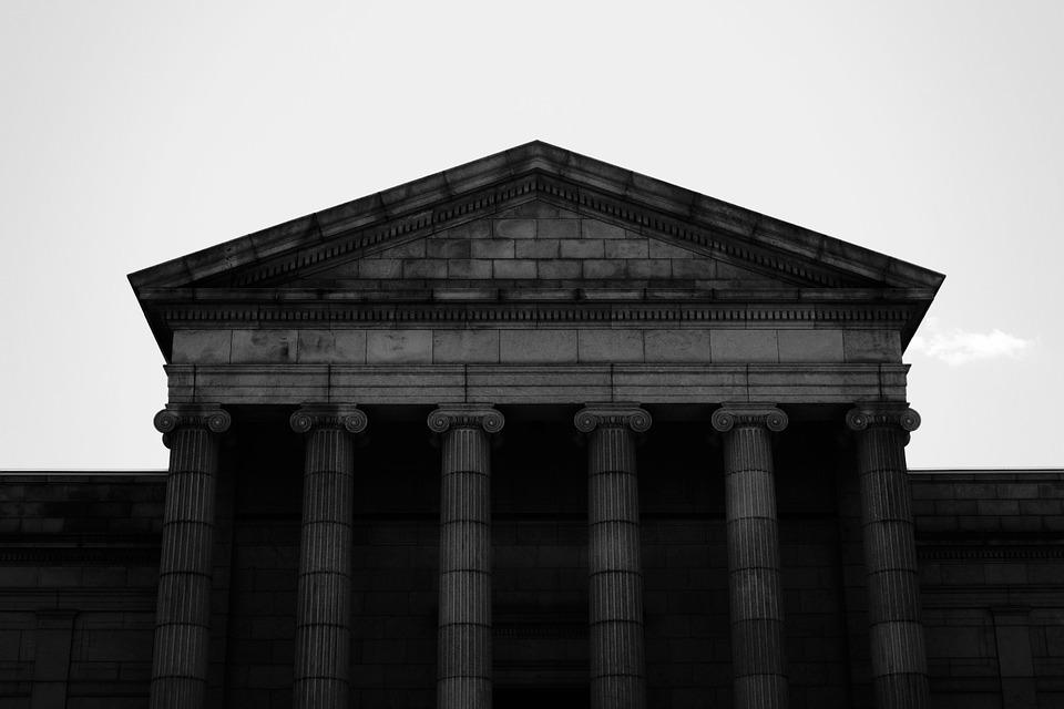 temple, gable, pediment