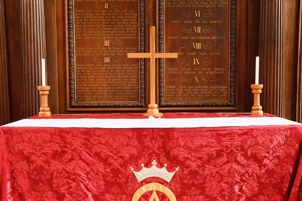 altar, candle, catholic