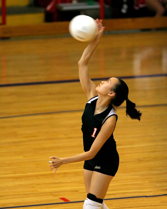 volleyball, player, action